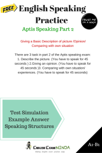 Aptis Speaking Part 2 - English Exam Ninja